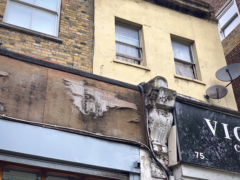 Above shops, Hackney Road