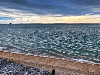 The Isle of Wight from Portsmouth Harbour