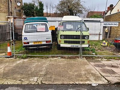 Two old VW Kombi's