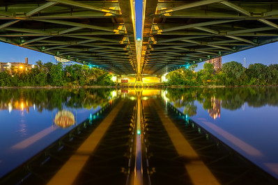 Under the Bridge at Night - Horizontal view