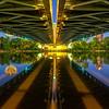 Under the Bridge at Night - Horizontal view