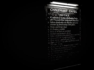 Chislehurst Caves Notice