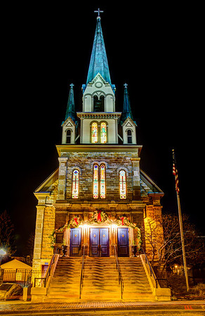 Our Lady of Lourdes Church decked out for Christmas