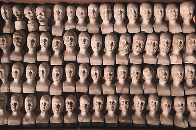 60 small phrenology heads, 1831