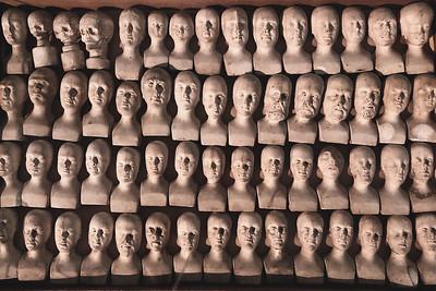 60 small phrenology heads, 1831