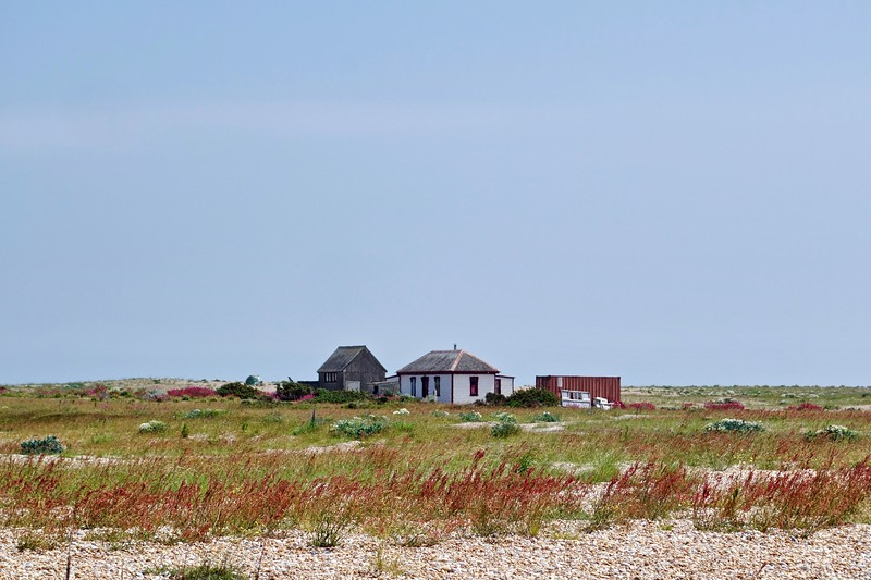 Houses and shipping container, Dungeness