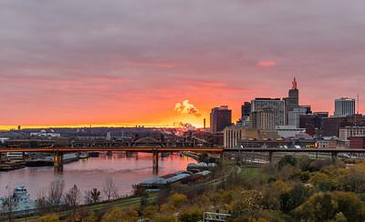 Saturday Sunset in Saint Paul