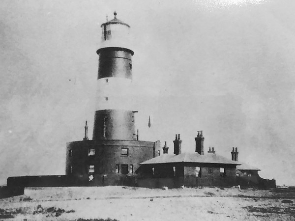 Scan of the now demolished old lighthouse, Dungeness