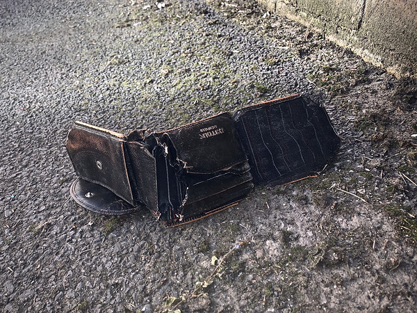 Wallet on the ground