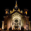 Cathedral at Night - A trinity of spotlights sparkle like stars while the Cathedral of Saint Paul stands tall in the night sky.