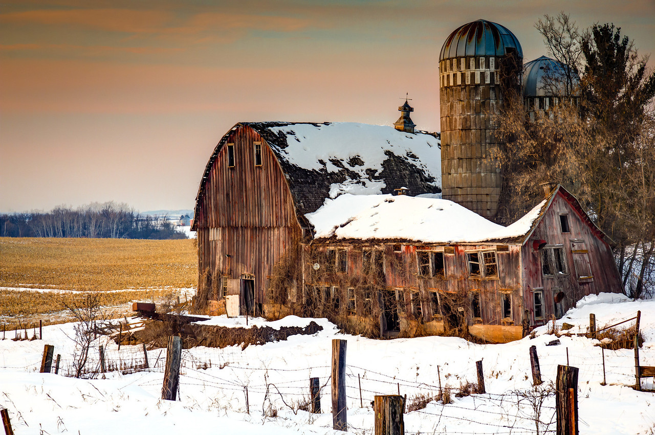 While roaming the countryside in rural Minnesota I stumbled upon this old, weathered barn.
