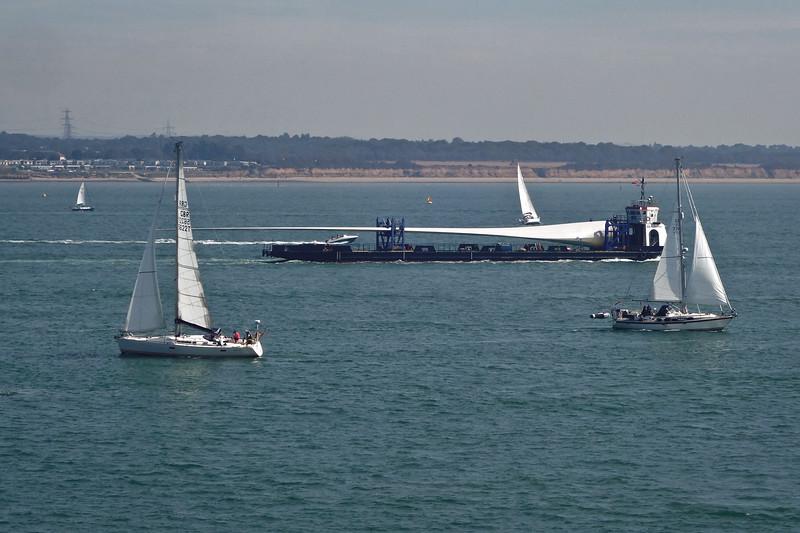 Wind turbine blade at sea