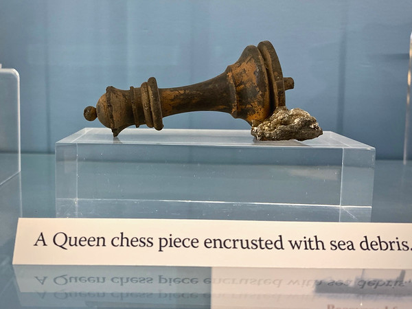 Chess piece recovered from the wreck of the SS Persia
