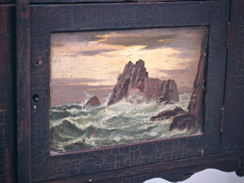 Painted panel (seascape)