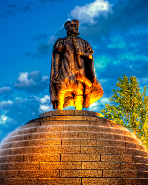 Christopher Columbus statue in Kenosha, WI.
