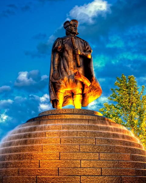 Christopher Columbus statue in Kenosha, WI.