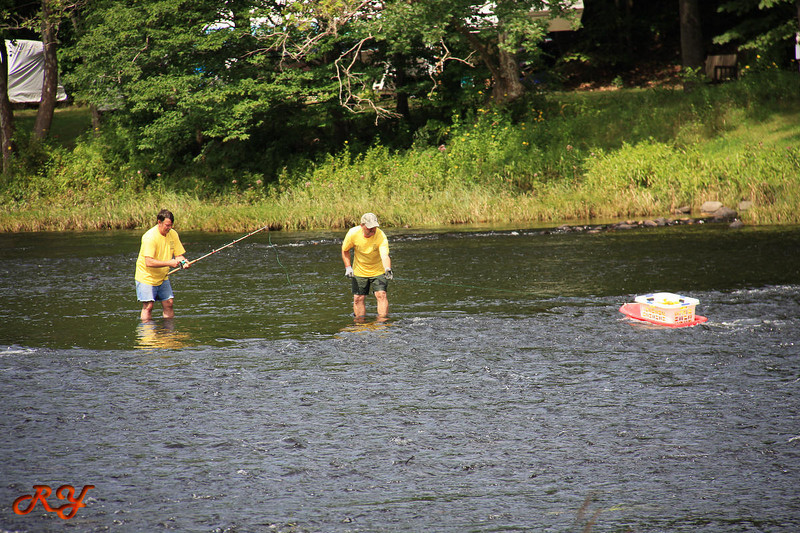 Bald Mountain Campground; Duck race; Reel them in