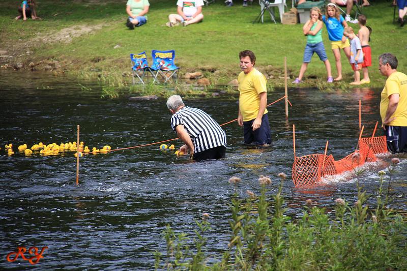 Bald Mountain Campground; Duck Race - the Winner Duck
