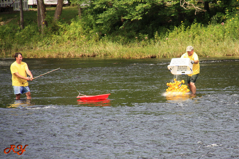 Bald Mountain Campground;  Duck Race - drop them in