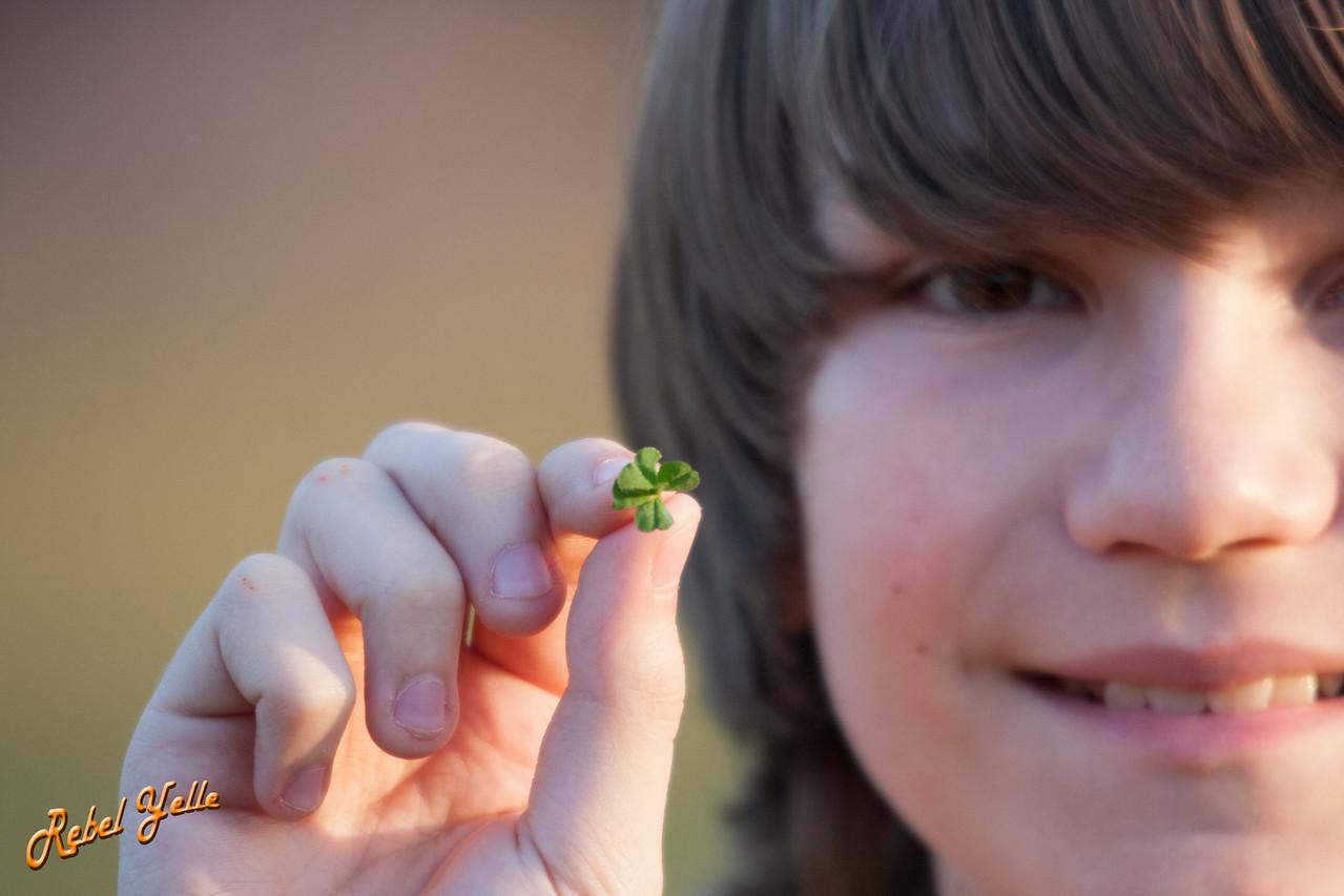 Ivan found four leaf clover.