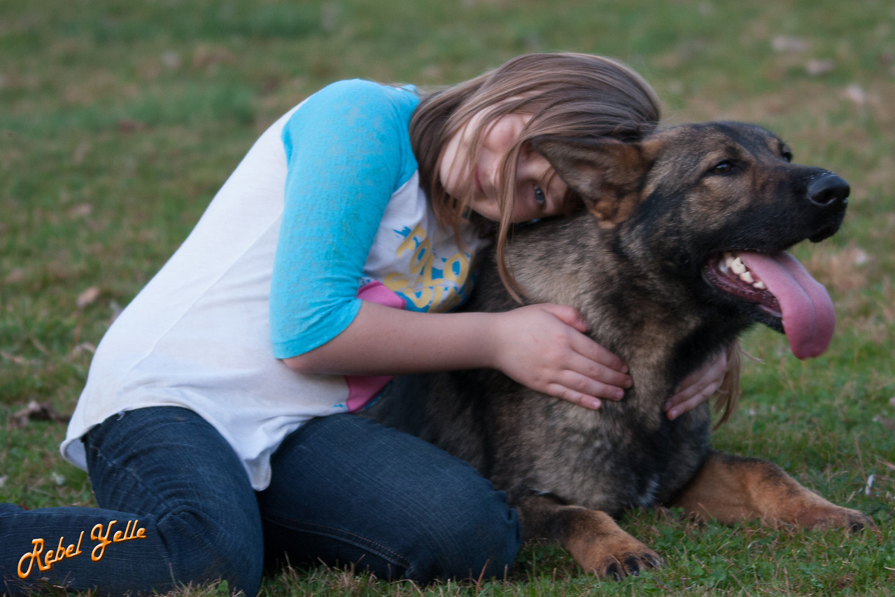 Adela and her dog