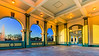 Sunset in the Boathouse Pavilion at  Carondelet Park.<br /> <br /> Established in 1875, its 180 acres of land makes this park the third largest in the City of St. Louis.<br /> <br /> © Copyright Philip Leara - Creative Commons - Attribution-NonCommercial-ShareAlike (CC BY-NC-SA 3.0)