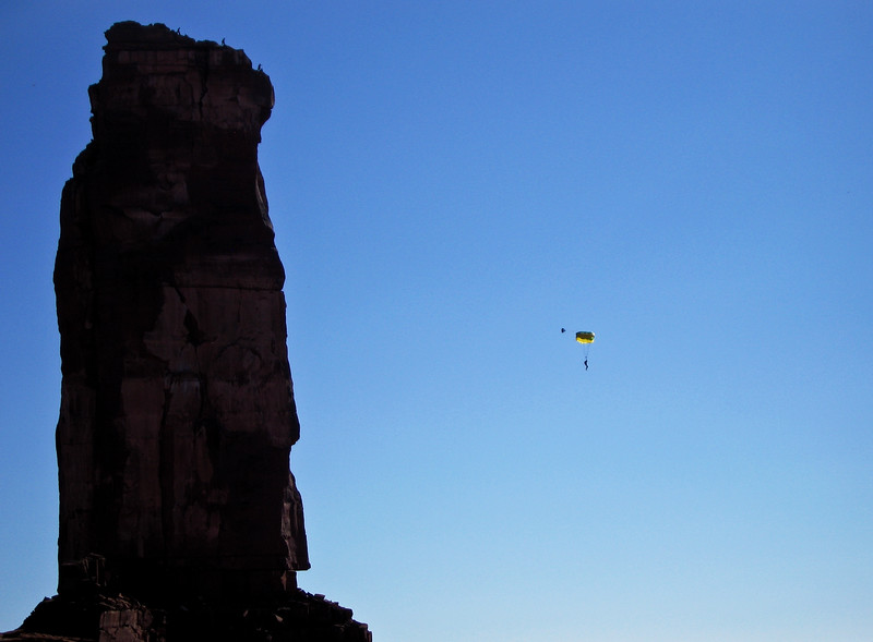 Castleton Tower BASE jumper