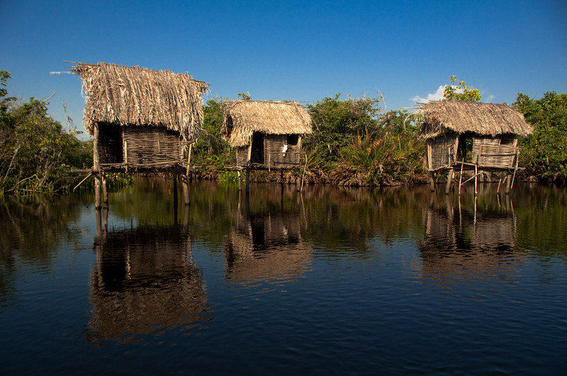 Fishing huts in Mangrove Mexico