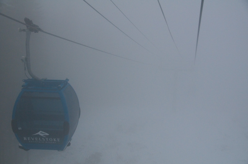 RMR Gondola in fog (colour)