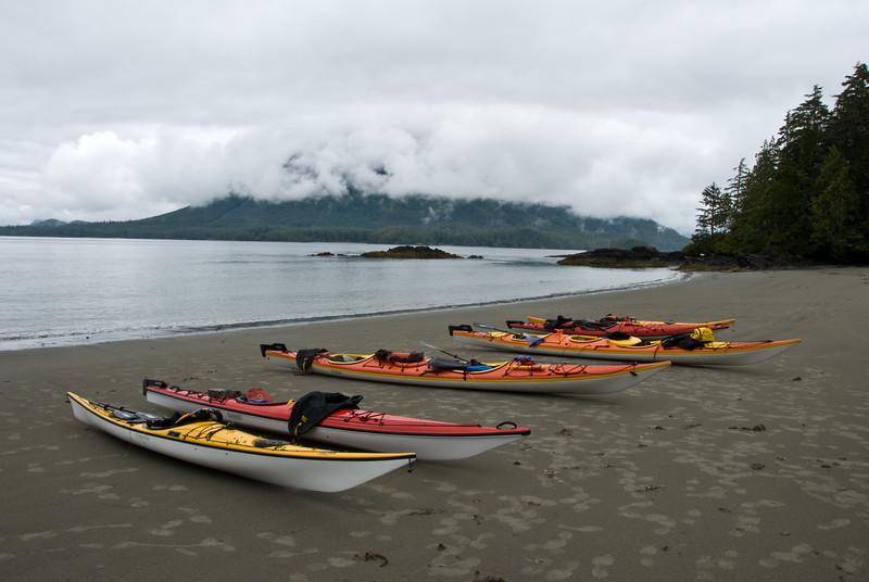 Kayaks on Vargas Island