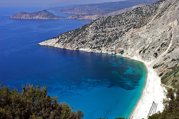 Myrtos Beach looking towards Assos, 13/6/2012