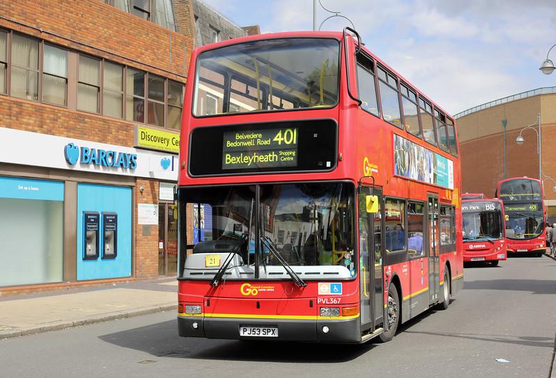 PVL367 PJ53SPX, Bexleyheath 13/5/2014