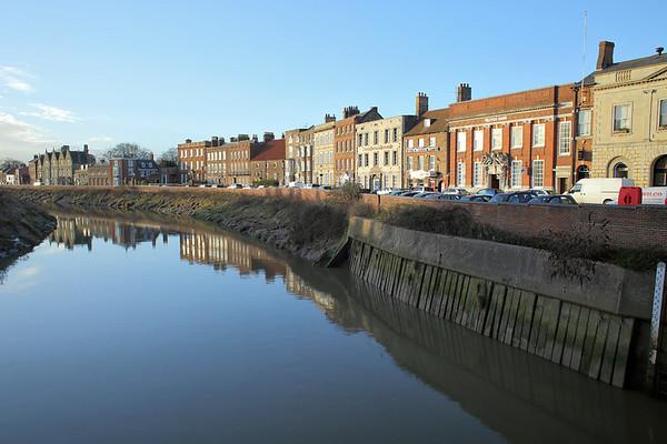 River Nene at Wisbech, Cambridgeshire 13/1/2014