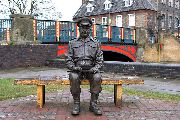 Captain Mainwaring Statue, Thetford 12/4/2013
