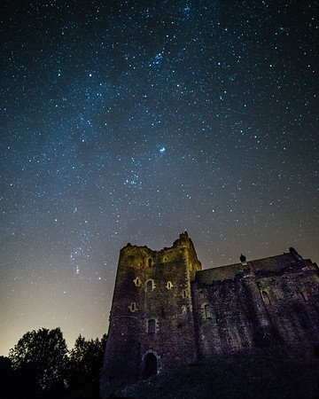 Clear Night at Doune Castle