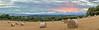 Bales at Sunset Panorama