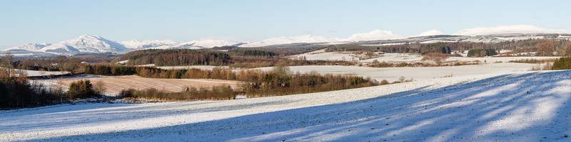 The Trossachs from Doune/Dunblane