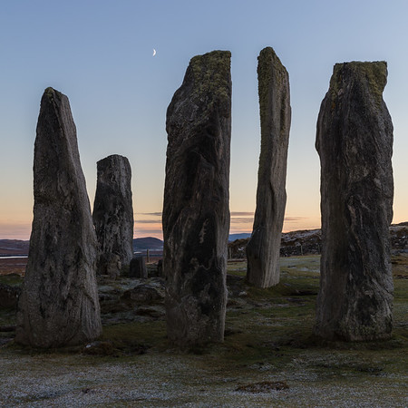 Sunset Moon at Callanish