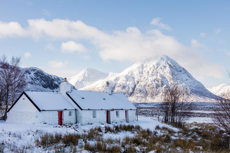 Black Rock Cottage in Snow