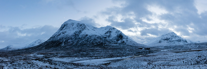 Moon Rising Over Glen Coe