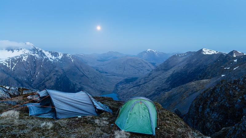 Wild Camp Under Full Moon