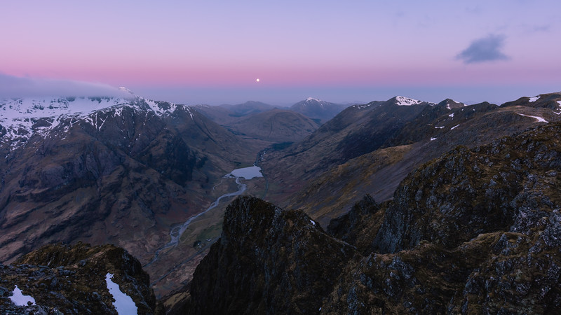 Moonset Over Glen Coe