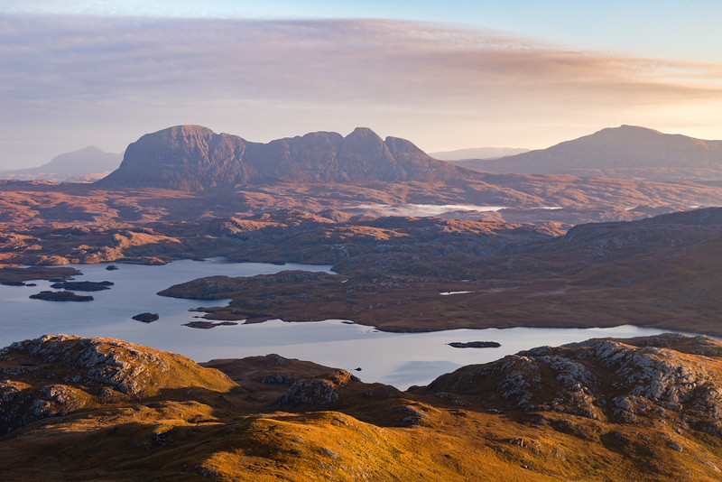 First Light on Suilven