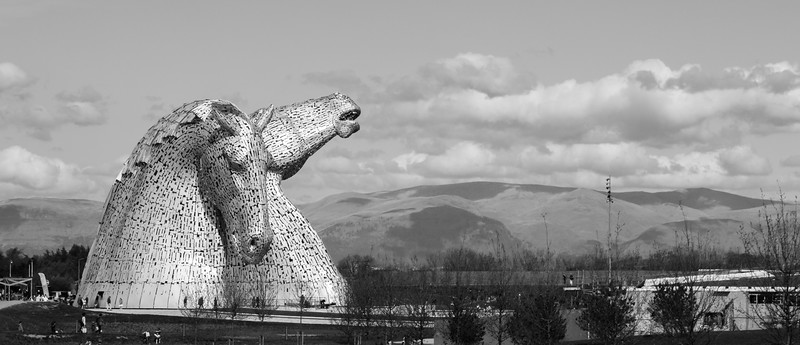 Kelpies Panorama
