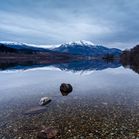 Loch Achray Reflections at Dusk