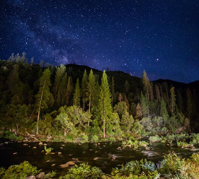 Yosemite View Lodge at Night