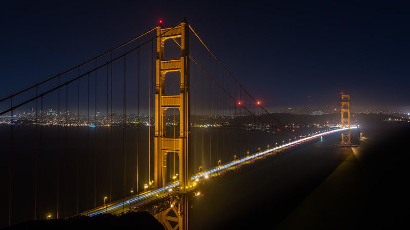 Golden Gate Bridge by Night 2