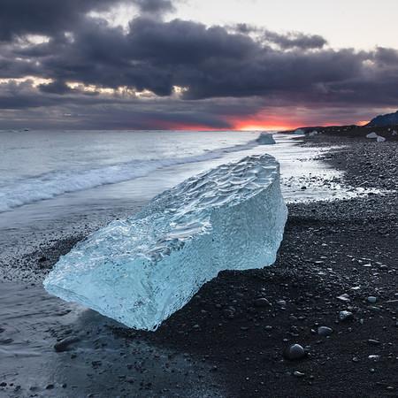 Ice Beach, Fire Sky II