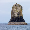 Bassalt column stack below the cliffs on Canna, Inner Hebrides, Scotland.
