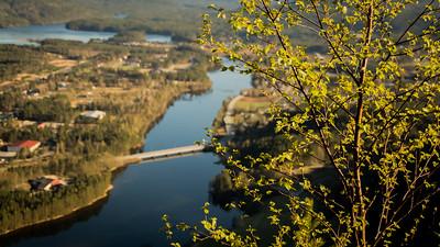 Broa over Otra  mellom Evje og Hornnes